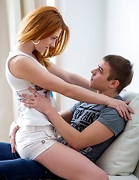 Extremely hot redhead having fantastic sex with her boyfriend