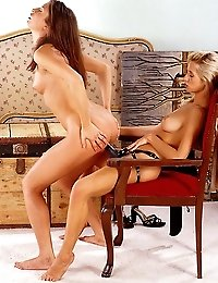 Eszter And Andrea toying their pussies