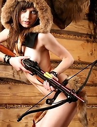 Naughty Teen Girl With Delicious Parts Dreams Of Becoming A Good Hunter In The Future And Shows Her