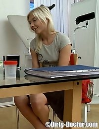 Sweet blonde teen perverted by horny M.D.