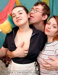 2 Teen Sluts 1 Lucky Guy!