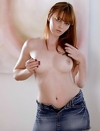 Buxom Redhead Marie Mccray Slips Off Her Panties To Bring Her Moistening Pussy To Hip Thrusting Orga